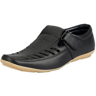 f5810c129449 Buy Fausto Black Men S Sandals Online - Get 4% Off