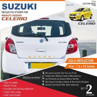 Buy Suzuki Sticker Set For Suzuki Celerio Gold Online Get 67 Off