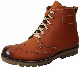 Fausto Men Brown Lace-Up Boots