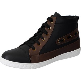 Fausto Men Black Lace-Up Casual Shoes