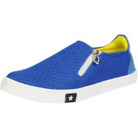 Fausto Men Sky Blue Lace-Up Casual Shoes