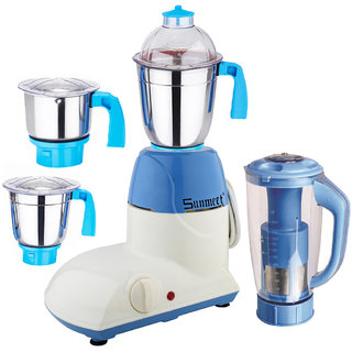 Sunmeet 1000 Watts Mixer Juicer Grinder with 4 Jar (1 Juicer Jar1 Medium Jar1 Large Jar and 1 Chuntey Jar)  Direct Factory Outlet Save On Retailer margin.