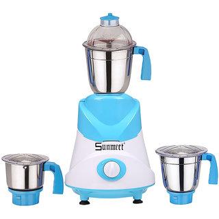 Sunmeet 750 Watts Mixer Juicer Grinder with 3 Jar (1 Medium Jar1 Large Jar and 1 Chuntey Jar) Direct Factory Outlet Save On Retailer margin.