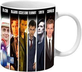 Mooch Wale Doctor Who 12 Doctors Ceramic Mug