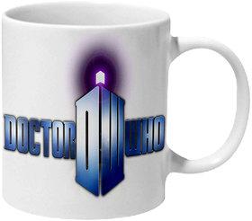 Mooch Wale Doctor Who Logo Ceramic Mug