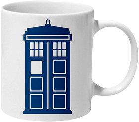 Mooch Wale Doctor Who Tardis Front Ceramic Mug