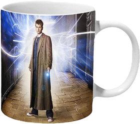 Mooch Wale Doctor Who Tenth Doctor Artwork Ceramic Mug