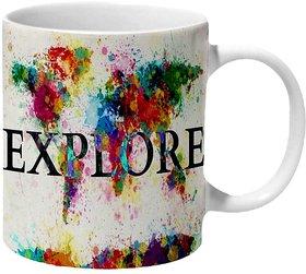 Mooch Wale Explore The World Ceramic Mug