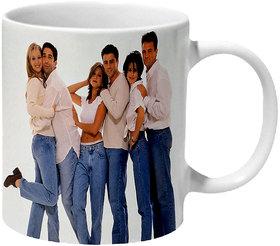 Mooch Wale Friends Classic White And Blue Ceramic Mug