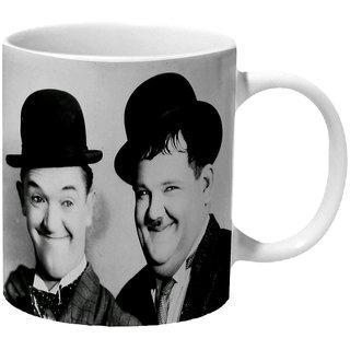 Mooch Wale Laurel Hardy Ceramic Mug