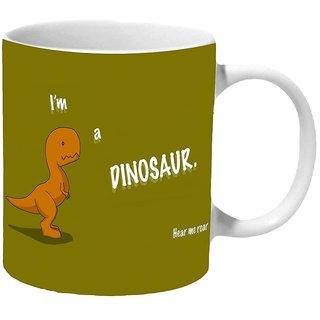 Mooch Wale Im A Dinosaur Hear Me Roar Ceramic Mug