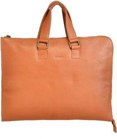 Mandava Genuine Leather Tan Unisex Laptop Bag