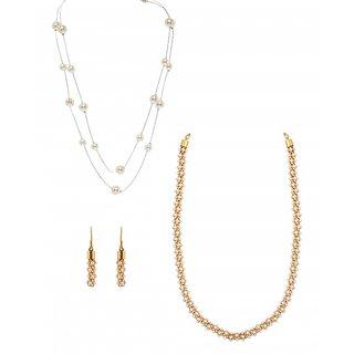 Zaveri Pearls Set Of Two Necklace Set - ZPFK6019