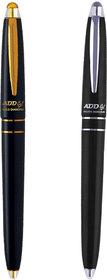 ADD GEL Combo Offer Pack Of 2 Pen Gold Diamond - Sliver Diamond Gel Roller Pen - Black Set of 3