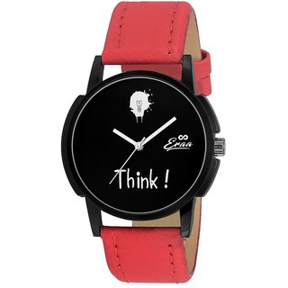 Eraa Men Crafty Red and Black Wrist Watch EMJXRED160