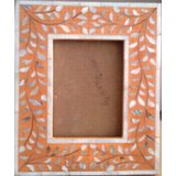 Wooden Photo Frame With Mother Of Pearl Inlay Work