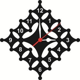 WALL CLOCK TASH MDF SIZE 10 INCH