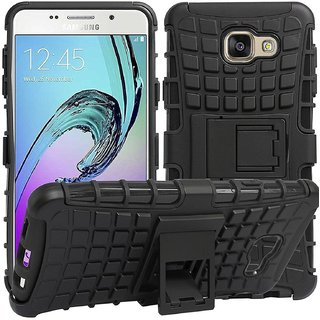 Samsung Galaxy C7 Pro Defender Case Hard Rugged Armor Back Cover with KickStand