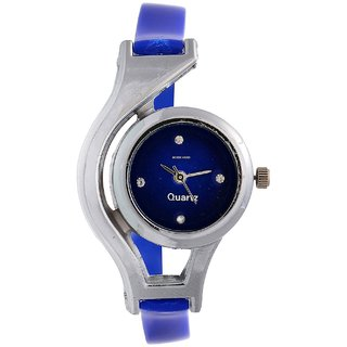NEW BRAND BLUE WOULD CUP ANALOG WATCH FOR GIRLS.