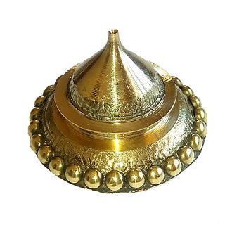 Traditional Handmade Brass Rounded small Kumkum/Sindoor Box