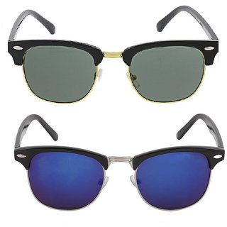 fcf21d855752 Fashno Combo Of Black And Blue Clubmaster Sunglasses(UV Protected)(Medium  Size)
