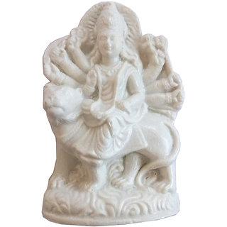 Beautiful Hand Crafted Marble Dust Hindu Goddess Maa Durga Statue