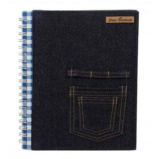 Style Notebooks Denim Notebook Blue Checks Double Pocket