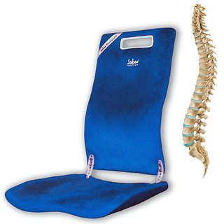 Sabar Back Support For Chair - Backguard With Extra Curvature 3090XC - Orthopedic Lumbar Back Support Seat - Blue