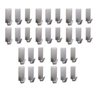 6thdimensions 30 Pcs Stainless Steel Adhesive Hooks for Room, Kitchen, Bathroom