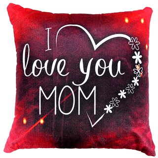 Welhouse special gift Love u Mom Print cushion cover VLCU-002
