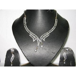 Women American Diamond Necklace Set