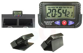 Taksun Car Dashboard  / Office Desk Alarm Clock And  Stopwatch With Fl