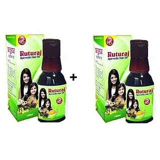 RUTURAJ AYURVEDIC HAIR OIL 2 X 100 ML COMBO PACK