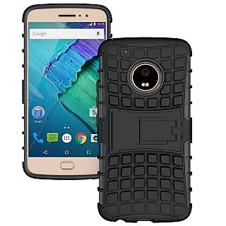 factory authentic c333b cee73 Motorola Moto G5 Plus Defender Case Hard Rugged Armor Back Cover with  KickStand