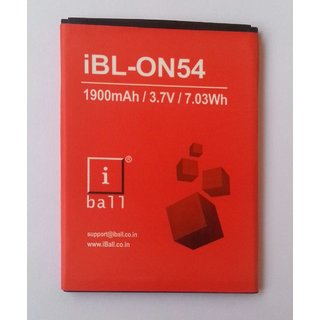 New Replacement BATTERY for iBall iBL-ON54 1900mAh / 3.7 V / 7.03Wh