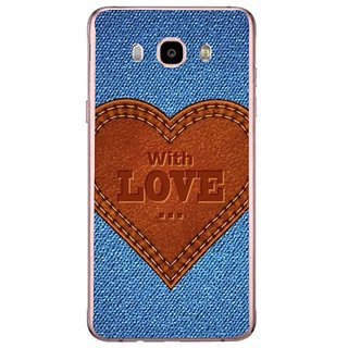Fuson Designer Phone Back Case Cover Samsung Galaxy J7 (6) 2016 ( Made With Love )