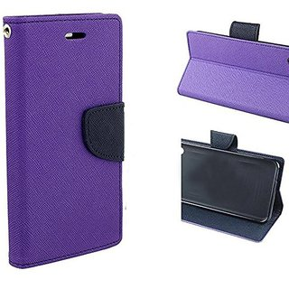 Mobimon Mercury  Diary Wallet Style Flip Cover Case for Samsung Galaxy J2(6) (new 2016) / J2-6 (2016) / J2 Pro (Purple)