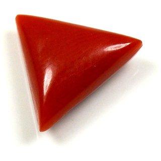 Yogigems  3.5  Ratti  3.21  Carat Beautiful Triangle Coral Moonga Munga Orignal Natural Loose Gemstone