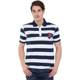 961d2737 Buy Jockey Navy & White Half Sleeve Polo T-Shirt For Men Online ...