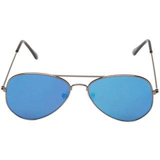 b898c50f9c4b Buy Fashno Flat Blue Mirror Aviator Sunglass (uv Protected)(medium ...
