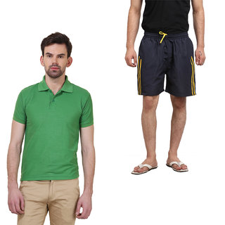 Polo T-Shirts Combo With Shorts By X-CROSS