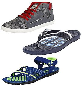 Earton Combo Pack Of 3 Pair Of Men Casual Shoe With Sli