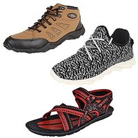 Earton Men Combo Pack Of 3 Casual Shoes With Sports Sho