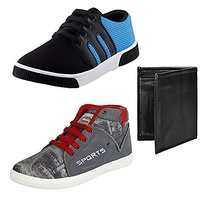 Earton Men Combo Pack 3 Canvas Casual Shoe With &Amp; W