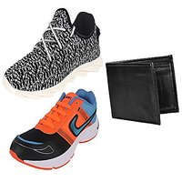 Earton Men Combo Pack Of Casual Shoes With Sports Shoes