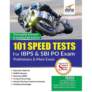 101 Speed Tests for IBPS  SBI Bank PO Exam 4th Edition