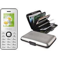 Combo of K66 Multimedia mobile with alumini Wallet (No Earphones)