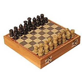 Buy 6thdimensions Wooden Chess Board Box Folding 12x12 Wood Made