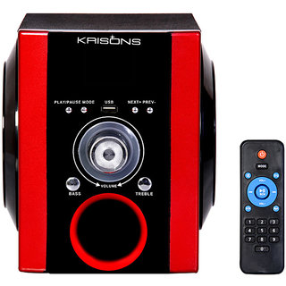 KRISONS SEMI PORTABLE MULTIMEDIA SPEAKER WITH FM,USB AND AUX.