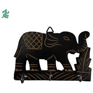 Handmade wooden key holder in Elephant Shape